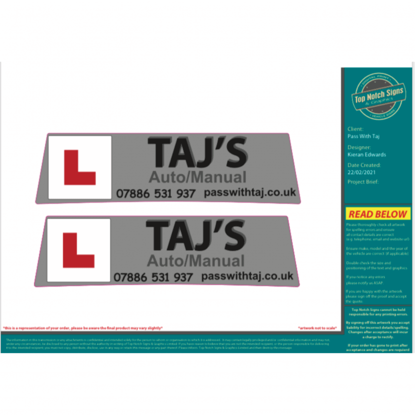 Pass with Taj lesson gift vouchers